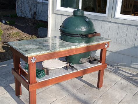 plans for large green egg table diy large big green egg table plans diy do it your self