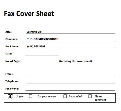 a printable fax cover sheet fax cover sheet 27 download free documents in pdf