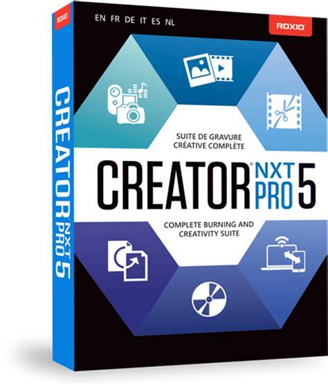 tutorial web creator pro 6 cd dvd burning software creator nxt 5 family by roxio