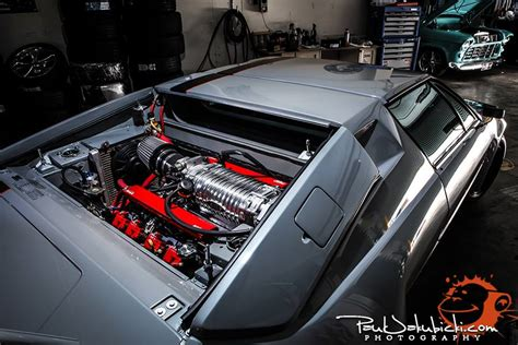 lamborghini engine swap swap insanity supercharged ls1 lamborghini jalpa runs in