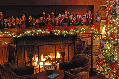 festive decorations christmas fireplace fire holiday festive decorations 4