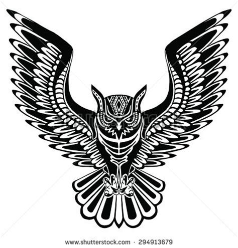 gambar tribal pattern owl owl tattoo stock images royalty free images vectors