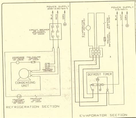 commercial walk in freezer wiring diagram wiring diagram