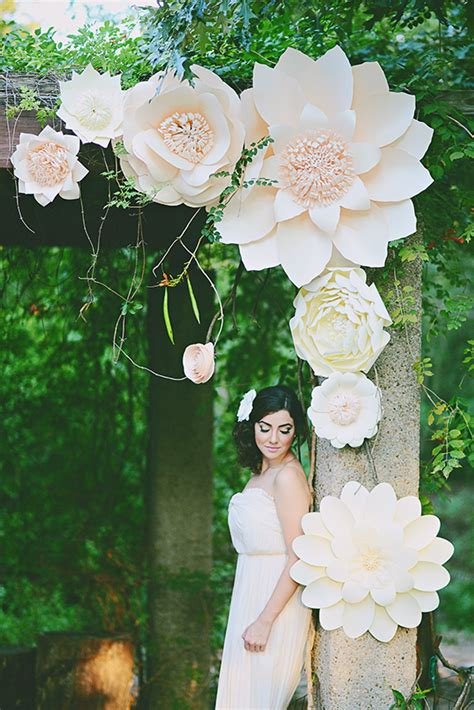 Paper Wedding Decorations by Paper Flower Wedding Inspiration 100 Layer Cake