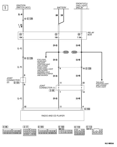 mitsubishi outlander radio wiring diagram 2008 lancer