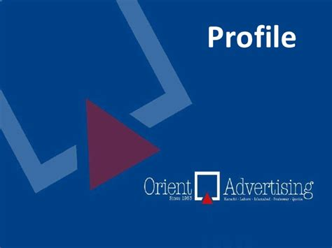 design agency company profile orient advertising profile