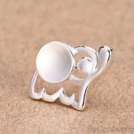 fresh baby elephant 925 silver stud earrings ear studs