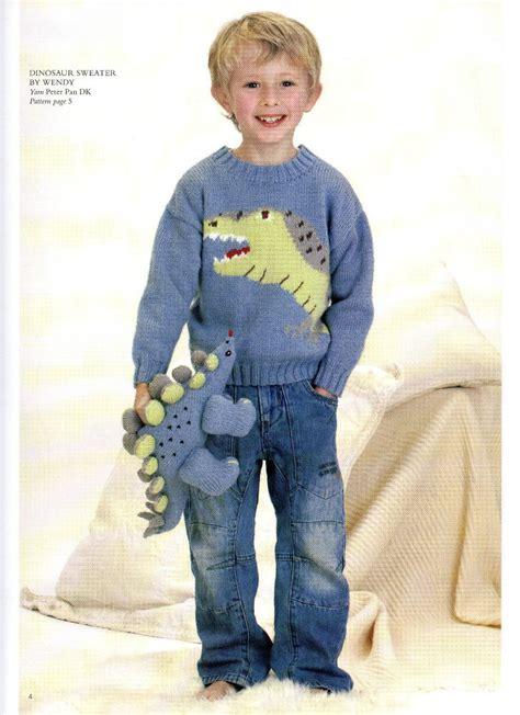 free knitting pattern jumper uk boys dinosaur jumper knitting pattern 99p ebay