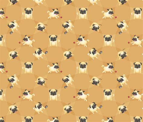 pug print material pugs fabric jaana spoonflower