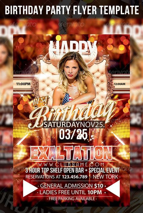 birthday flyer template birthday flyer template by cerceicer graphicriver