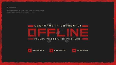 Twitch Offline Banners Custom And Template Twitch Twitch Header Template