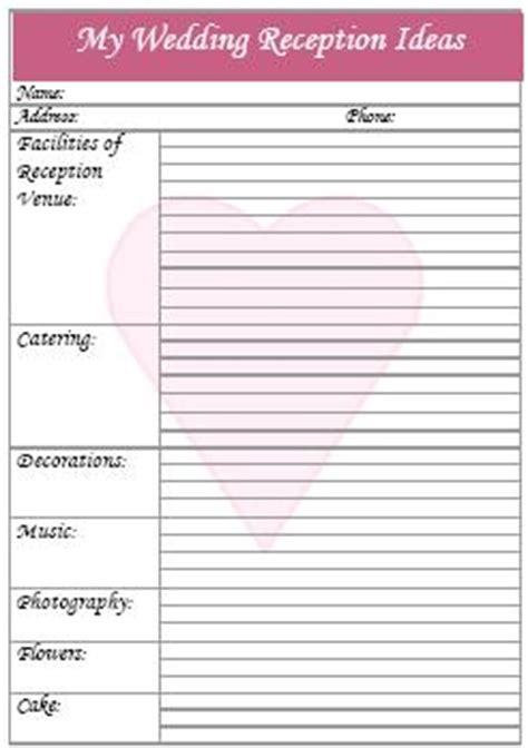 printable wedding reception music checklist printable wedding checklist