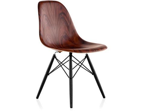 eames molded wood side chair  dowel base hivemoderncom