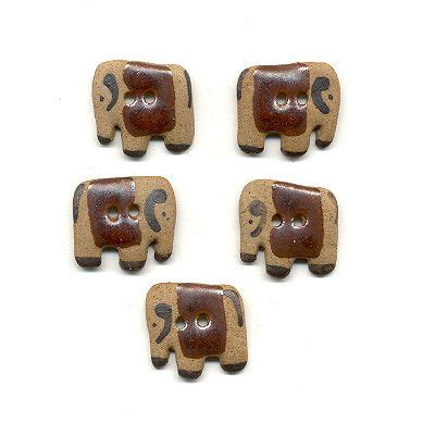 Handmade Buttons Uk - handmade buttons indian elephant the fabric shop