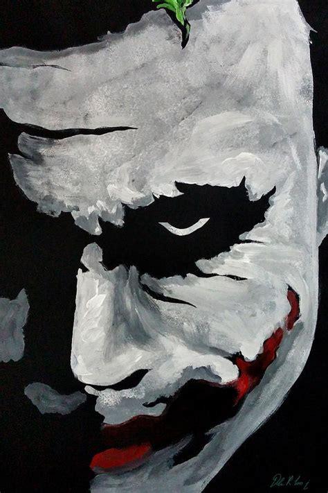 acrylic painting of joker ledger s joker painting by dale loos jr