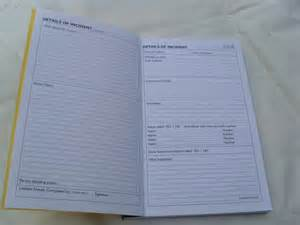 Incident Report Book Template Incident Reporting Book