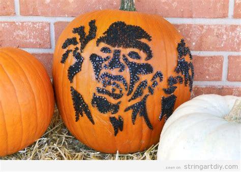 zombie pumpkin tutorial pumpkin string art for fall and halloween string art diy