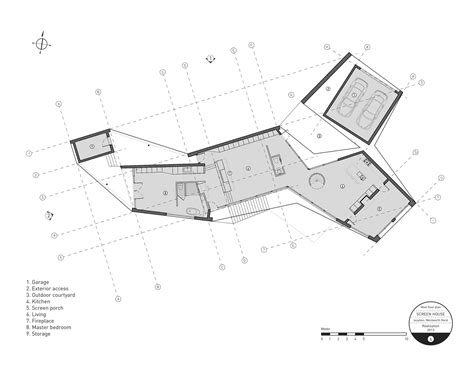 floor plan definition architecture gallery of screen house alain carle architecte 16