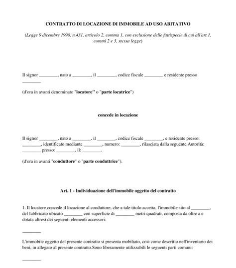 contratto di locazione box auto contratto di locazione ad uso abitativo modello