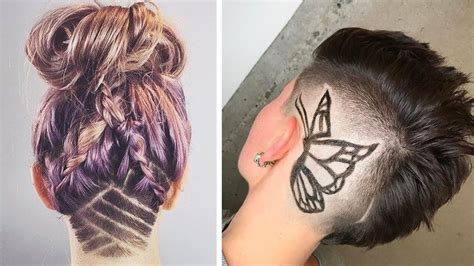 undercut tattoo undercut hair nape shave cut