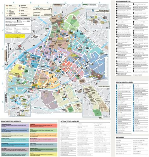 map uk manchester manchester tourist attractions map