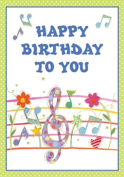 Happy Birthday Song Card Happy Birthday Song Card Happy Birthday To You Pinterest