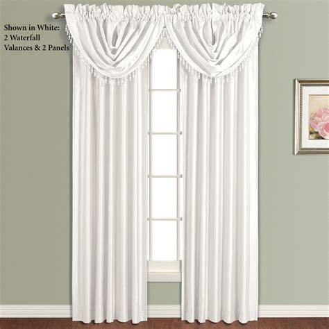 Silk Window Treatments Annaleigh Faux Silk Tailored Window Treatment