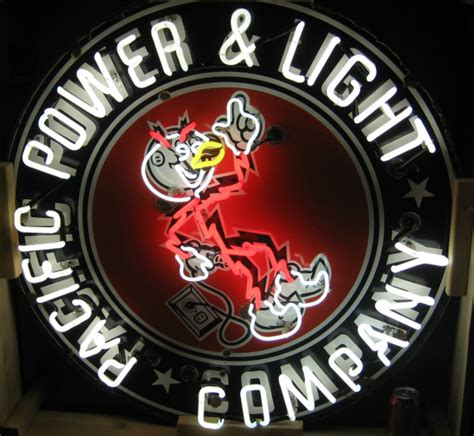 pacific power and light company neon antique