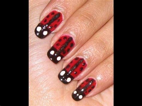 cute easy lady bug nail art youtube lady bug nail art youtube