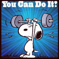 snoopy quot you can do it quot run snoopy