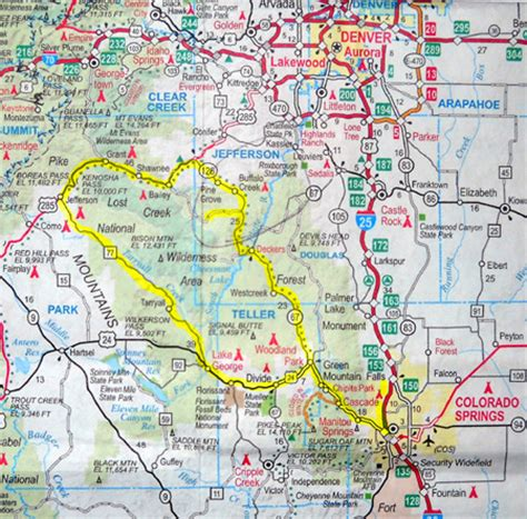colorado springs routes map sue s at journal