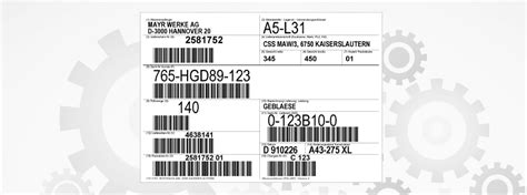 Sticker Anbringen Englisch by Barcode Label Software For Aiag Vda 4902 Transport Label