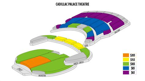 cadillac theater chicago seating cadillac theater seating chart cadillac palace theater