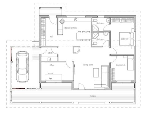 affordable home ch23 in modern architecture house plan