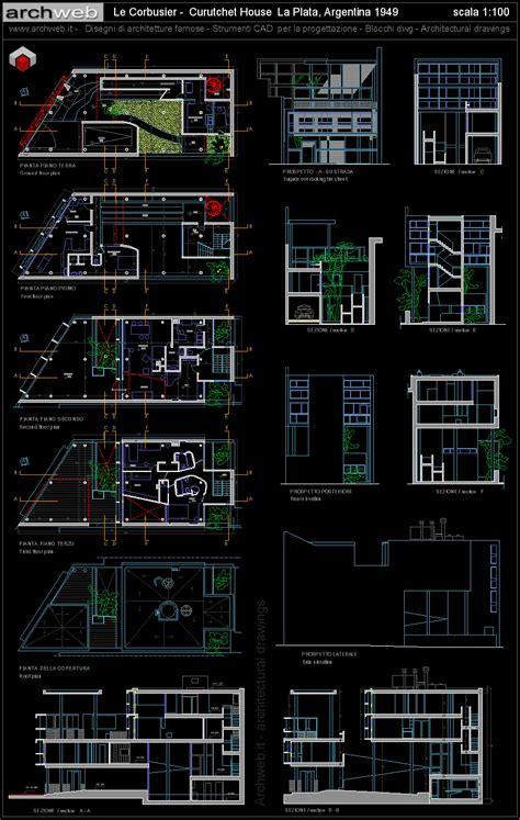 Basement Floor Plans Free le corbusier curutchet house 2d dwg drawings le