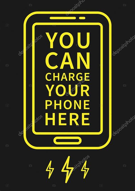 charge your phone charge your phone here stock vector 169 aleksorel 107648770