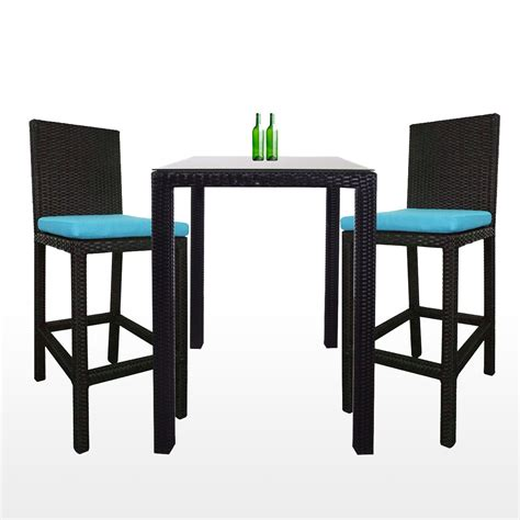 midas 2 chair bar set blue cushion dining sets dining