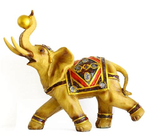 Feng Shui Affiliate Programs by Big Yellow Gold Elephant Statue