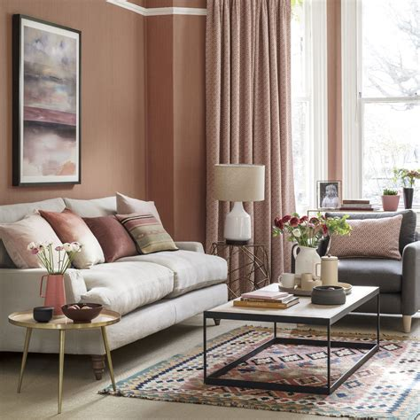 livingroom decor how to decorate with coral blush tones ideal home