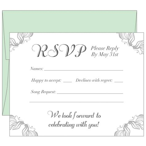 rustic wedding rsvp card diy printable wedding response card