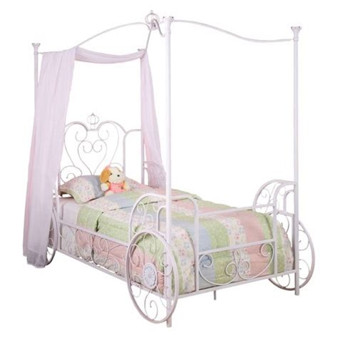 carriage twin bed powell princess emily carriage canopy bed twin