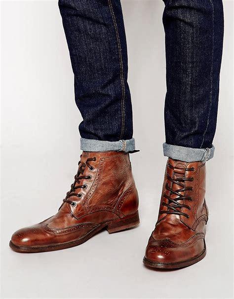 hudson h by hudson angus brogue boots at asos