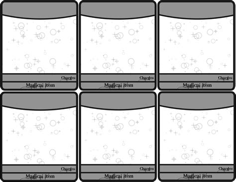 simple character card template printable d d 5e spell cards pdf free character sheet