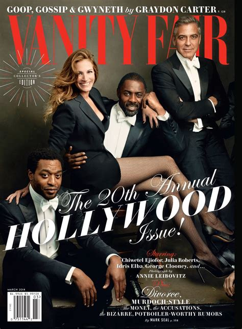 on the cover of vanity fair magazine march