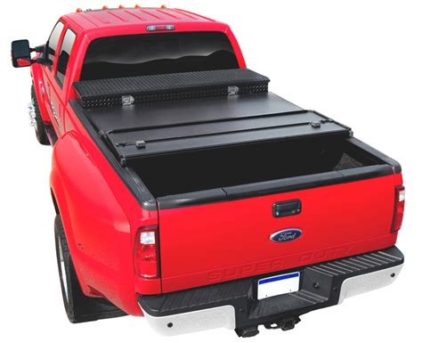 truck bed cover with tool box extang solid fold tool box tonneau cover free shipping