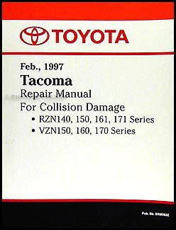 car repair manuals download 1997 toyota tacoma parking system 1997 2000 toyota tacoma body collision repair shop manual original