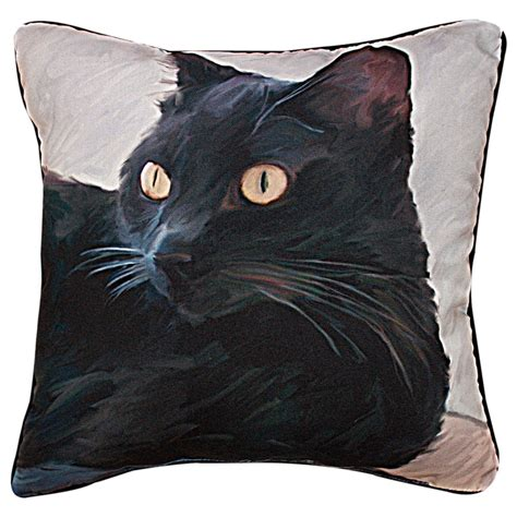 Cat Throw Pillow by Black Cat Throw Pillow The Animal Rescue Site