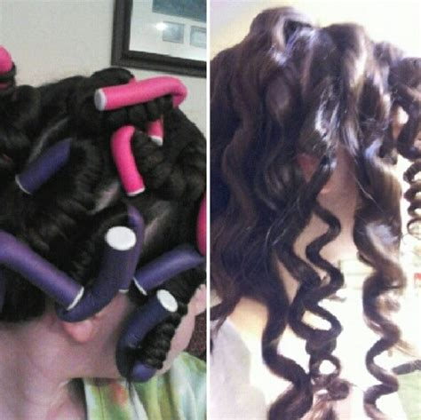 husband forced to sleep in hair rollers foam curlers hair and beauty pinterest love and foam