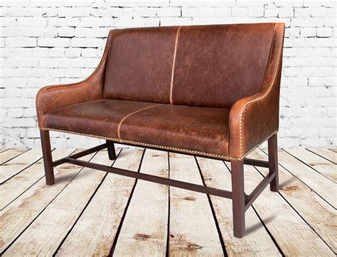 manchester leather settee love     banquette style dining table arrangement