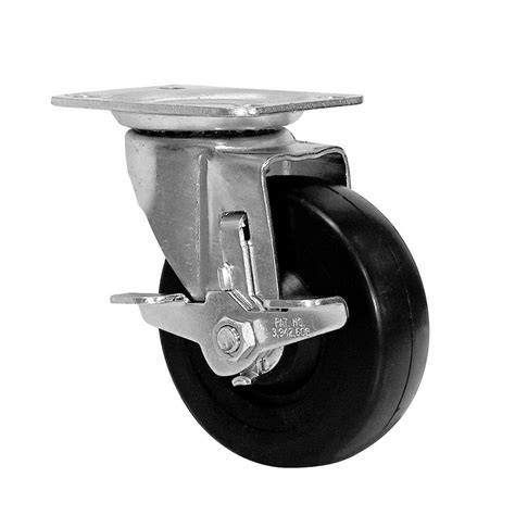 everbilt 4 in polyurethane caster with brake 4120745eb